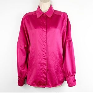 Vintage Chaus Balloon Sleeves Button Down Blouse